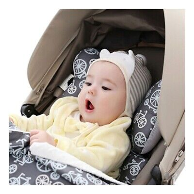 RY Newborn Baby Infant Cotton Pillow Positioner Prevent Flat Head Anti Roll