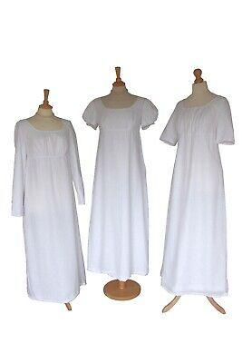 Made To Order Ladies Regency Jane Austen Elizabeth Bennet Cotton Muslin Gown