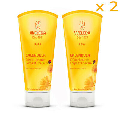 Weleda Baby Calendula Shampoo and Body Wash 200ml x 2  (AUTHENTIC)