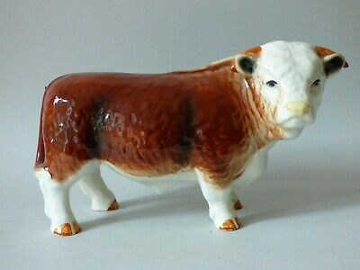 Large England Countryside Farm Cattle Hereford Butchers Shop Bull Free Uk Pp