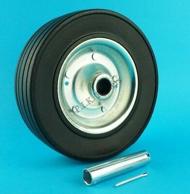 HEAVY DUTY 200mm Replacement Wheel & AXLE TUBE for Trailer Jockey Wheel   #5213T