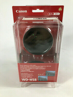 Canon WD-H58 Wide Converter Camcorder Lens (0.7x) Manufacturer Part # 3572B001