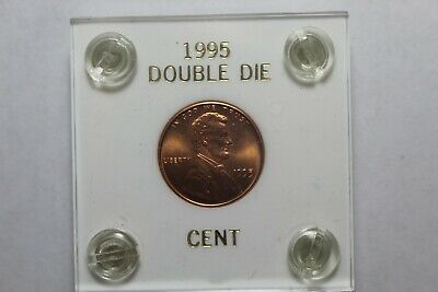 1995 Double Die Lincoln Cent Gem BU RED