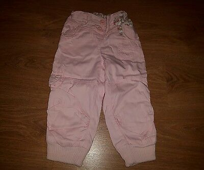 Girls Next Pink Long Trousers, size 1.5 - 2 years