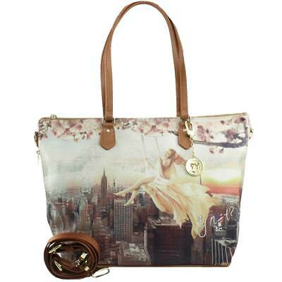 Borsa Donna Y Not? Shopping Bag L Con Tracolla Lively New York H-397