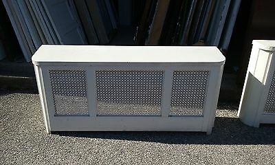 VINTAGE METAL RADIATOR COVER WITH  LID APPROX 51 x 23 x 11 PICK UP ONLY!!!!