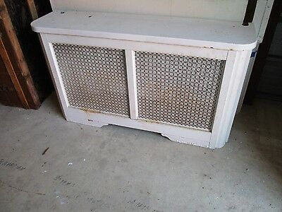 Vintage Metal Radiator Cover With  Lid Approx 47 X 26 X 12  Pick Up Only!!!!!!