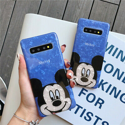 Cartoon Disney shell Mickey soft case Cover for Samsung galaxy S10+ S9+ note 8 9