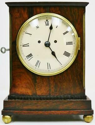 Rare Antique C1805 English Twin Fusee Campaign Officers Carriage Bracket Clock