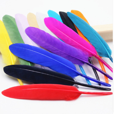 Free shipping! 50 beautiful goose feather 4-6 inches 10-15 cm, choose color