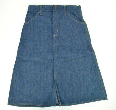 Vtg 1970's Young Maverick Girls Denim Blue Jean Skirt, 10