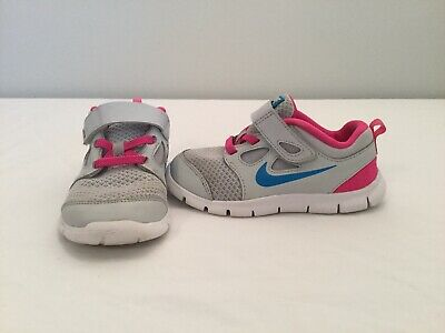 aea32e970d8e NIB NIKE FREE Rn Size 10 Toddler Girls Shoes Diffused Blue White ...