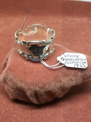 A Superb Vintage Solid Silver Napkin Ring by Henry Williamson HM Birmingham 1922