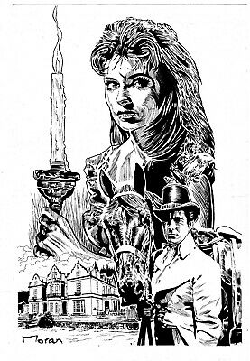 Gothic Romance Cover Original Art By Rob Moran