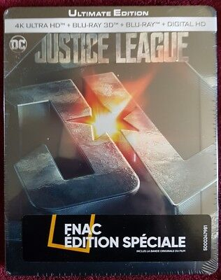 Justice League : Ultimate Edition blu ray 4K 3d 2d - Steelbook  FNAC VF