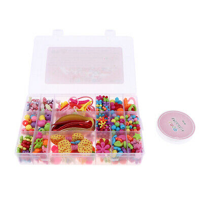 500 pcs Colorful Acrylic Beads Set for Jewelry DIY Making Craft for Girls