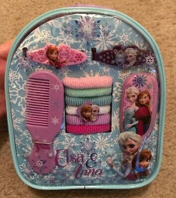 Disney Frozen Kids Hair Accessory Set Mini Backpack Storage for Girls