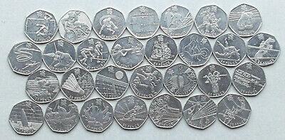 LONDON OLYMPICS 2012 50p Coins: All 29 Events Available: Football Triathlon Judo
