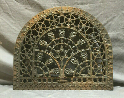 Antique Cast Iron Arched Decorative Heat Grate Wall Register 13X15 147-19L