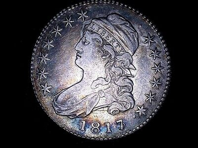 **SALE **    1817/3 50C Capped Bust Half Dollar nicely toned obv