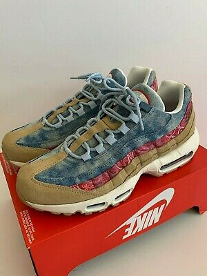 finest selection 8924b a216f Nike Air Max 95 Wild West Parachute Beige Uni Red Light Blue BV6059-