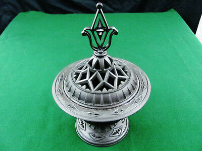 1850's American Fancy Cast Iron Stove Top Vaporizer Medical Aromatherapy Rare