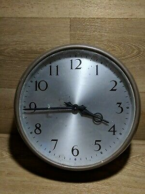 Vintage 1960's Steel Cased Smith Enfeild Military Wall Clock FREE P&P