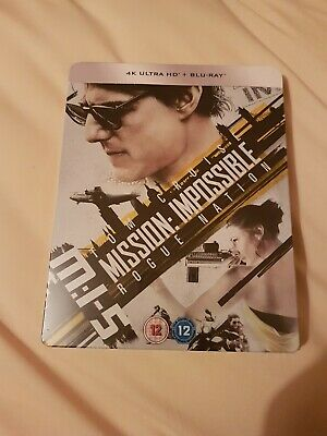 Mission Impossible 5 (Limited Edition Steelbook - 4K Ultra HD and Blu-Ray) [UHD]