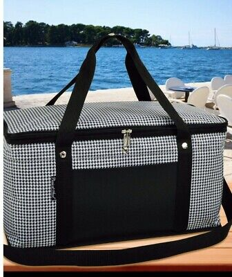 PICNIC AT ASCOT Bold Insulated Casserole Carrier Houndstooth