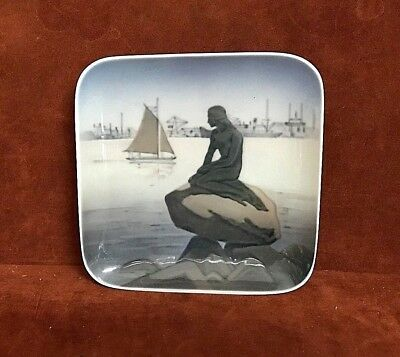 ROYAL COPENHAGEN Little Mermaid at Langelinie #4090D Square Tray ~ FREE SHIPPING