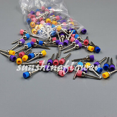 100 Pcs Dental Mixed Color Nylon Latch Bowl Polishing Polisher Prophy Brush Cup