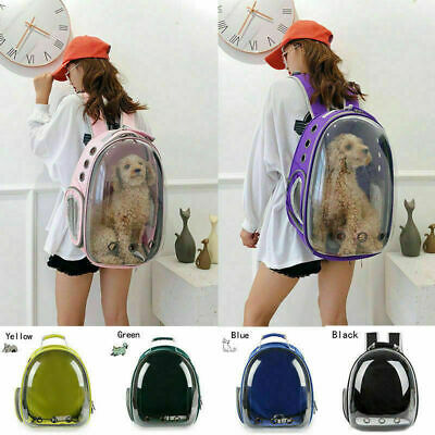 Pet Dog Cat Astronaut Backpack Space Capsule Breathable Outdoor Carrier Bag US