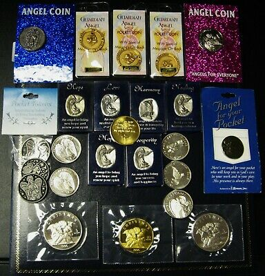 Collection of 23 Assorted Angel Coins For the Collector