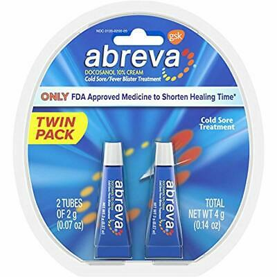 Abreva Docosanol 10% Cream Tube, Only FDA Approved Treatment for Cold Sore/Fever