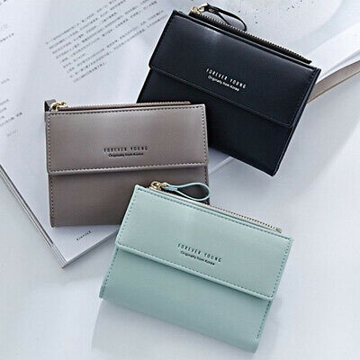 Women Short Small Money Purse Wallet Ladies Leather Folding Coin Card Holder UK