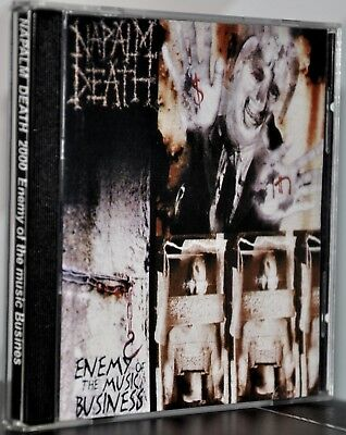 """Napalm Death """"Enemy Of The Music Business"""" Rare Russian CD! Excellent condition!"""