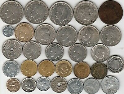 30 different world coins from SPAIN