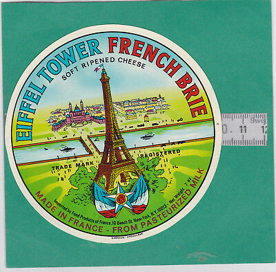 L814 Fromage French Brie Tour Eiffel Made In France