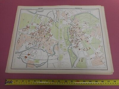 100% Original Large Oxford Cambridge Map  By Bartholomew C1890 Vgc Railways