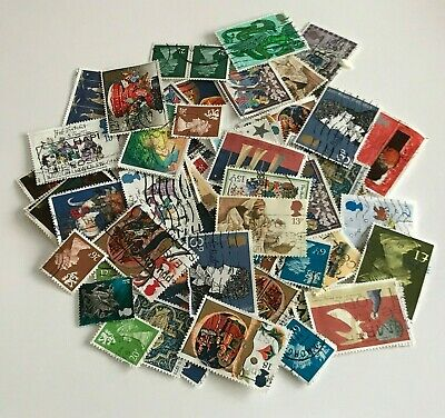 Mixed Job Lot of - British Postage Stamps - Used - Off Paper - Great Britain