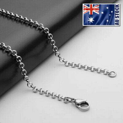 """Wholesale Price Stainless Steel 3mm Rolo Link Chain Necklace Mens Womens 20""""-32"""""""