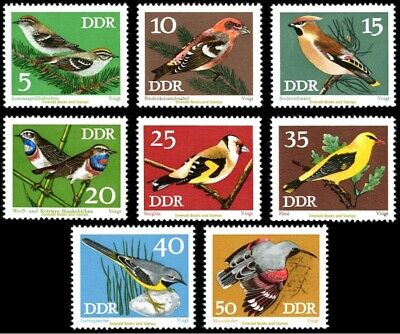 EBS East Germany DDR 1973 Protected Songbirds Michel 1834-1841 MNH**