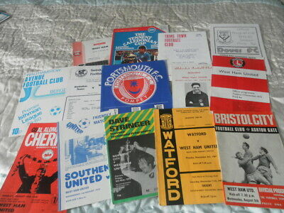 WEST HAM UNITED AWAY FRIENDLYS TESTIMONIALS 1970s AND 80s CHOOSE FROM LIST