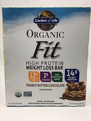 Garden Of Life Organic Fit Bar Peanut Butter Chocolate 12 Count