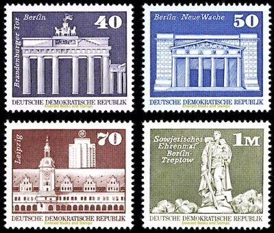 EBS East Germany DDR 1973 Buildings - Aufbau in der DDR (IV) 1879-1882 MNH**
