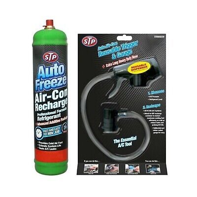 Stp Car Air Con Conditioning Top Up Aircon Refill Recharge R-134A Gas Kit