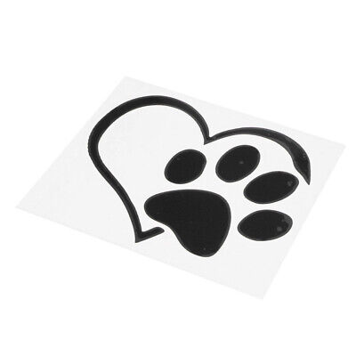 Love Heart with Paw Print Sticker Dog Cat Pet Car Decal Personalised Window