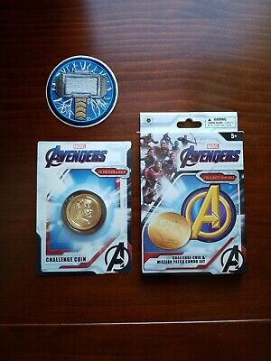 MARVEL AVENGERS CAPTAIN AMERICA CHALLENGE COIN #2 /& MISSION PATCH COMBO SET