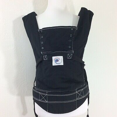 Ergo Baby Carrier Sling 15-40lbs Multi-Position Infant Toddler Black Backpack