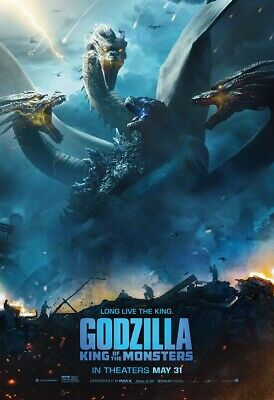 "Godzilla King of the Monsters Poster Movie 2019 Film Print 11x17"" 24x36"" 27x40"""
